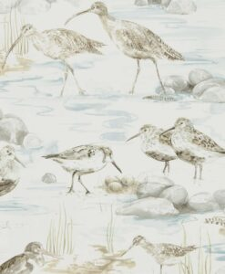 Estuary Birds from the Embleton Bay Collection in Blue and Grey