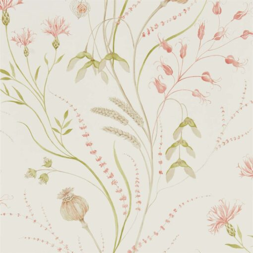 Summer Harvest by Sanderson in Claret and Olive