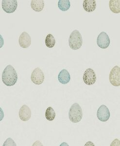 Nest Egg Wallpaper in Eggshell & Ivory