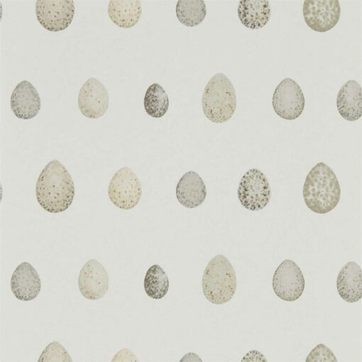 Nest Egg Wallpaper in Almond and Stone