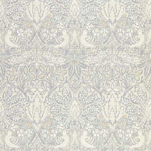 Pure Dove and Rose wallpaper from Morris & Co.'s Pure North Collection in Cloud Grey
