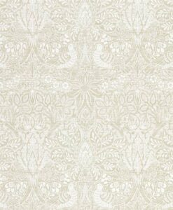 Pure Dove and Rose wallpaper from Morris & Co.'s Pure North Collection in White Clover