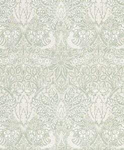 Pure Dove and Rose wallpaper from Morris & Co.'s Pure North Collection in Grey Blue