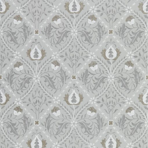 Pure Trellis Wallpaper from the Pure North Collection by Morris & Co. in Lightish Grey