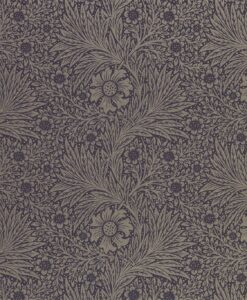 Pure Marigold Wallpaper by Morris & Co. in black ink
