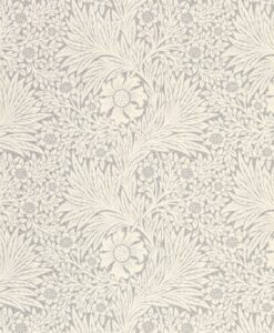 Pure Marigold Wallpaper by Morris & Co. in cloud grey