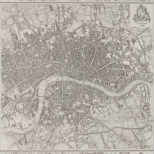 London 1832 Wallpaper by Zophany - Map of London in 1832