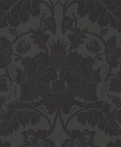 Villandry Wallpaper from the Damask Wallpaper Collection by Zophany in Vine Black