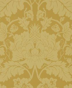 Villandry Wallpaper from the Damask Wallpaper Collection by Zophany in Tigers Eye