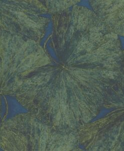 Taisho Lotus Wallpaper from The Muse Collection by Zohany in Malachite & Lapis
