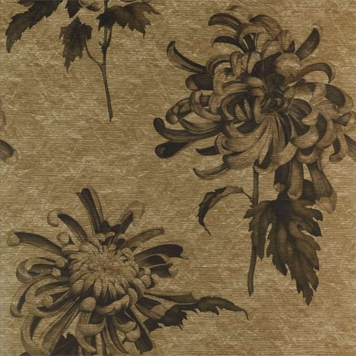 Evelyn Wallpaper from The Muse Collection by Zophany in Antique Gold and Olivine