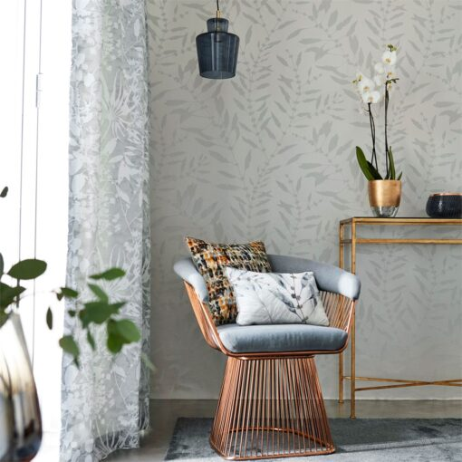 Chaconia Shimmer Wallpaper from the Anthozoa Collection by Harlequin
