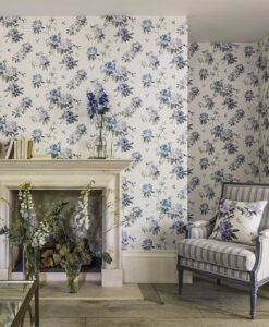 Rhodera Wallpaper from Waterperry Wallpapers by Sanderson Home