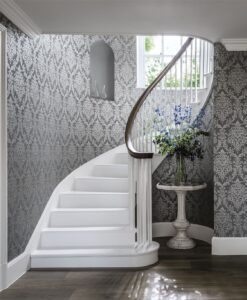 Riverside Damask Wallpaper from Waterperry Wallpapers by Sanderson Home