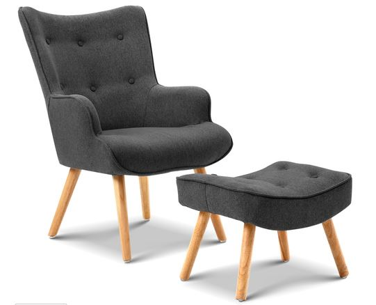 Comfy arm chair with footstool from Risen, perfect for you home office