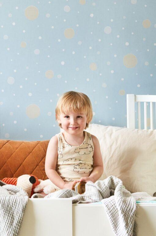 Confetti Wallpaper by Majvillan in Blue 117-05