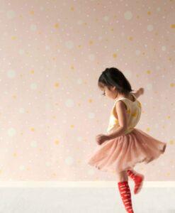Confetti Wallpaper by Majvillan in Pink 117-04 B