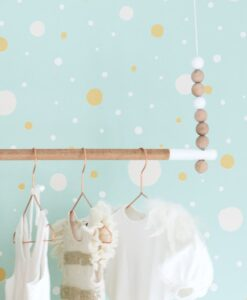 Confetti Wallpaper by Majvillan in Turquoise 117-02 D