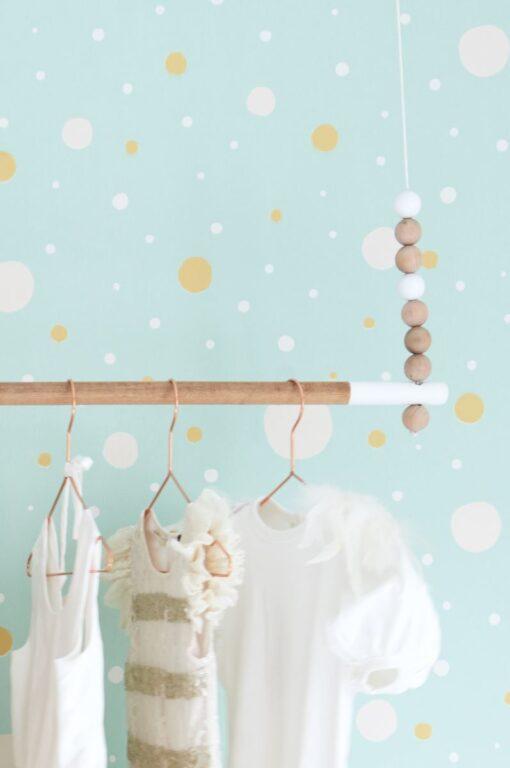 Confetti Wallpaper by Majvillan in Turquoise 117-02 D