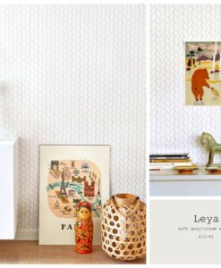 Leya wallpaper in grey 111-01 information card