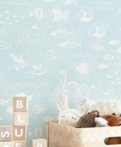 The Big Blue Wallpaper by Majvillan in Blue 119-01 B