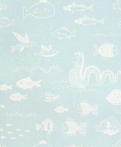 The Big Blue Wallpaper by Majvillan in Blue 119-01 C