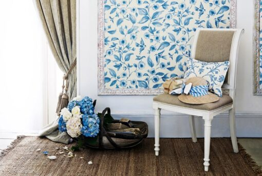 Bird Blossom Wallpaper from Aegean Wallpapers by Sanderson Home