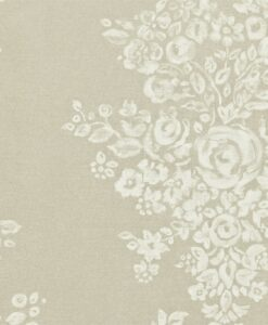 Freya Wallpaper in Pewter and Ivory
