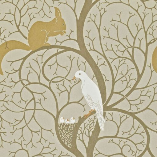 Squirrel & Dove Wallpaper