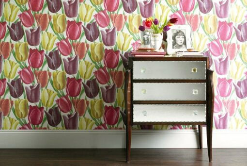 Early Tulips Wallpaper from Vintage Wallpapers I by Sanderson Home