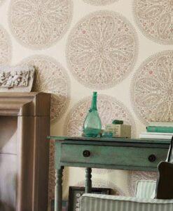Paisley Circles Wallpaper by Sanderson