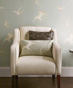 Swallows Wallpaper by Sanderson Wallpaper