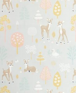 Golden Woods Wallpaper by Majvillan in Soft Grey