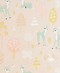 Golden Woods Wallpaper by Majvillan in Sweet Pink