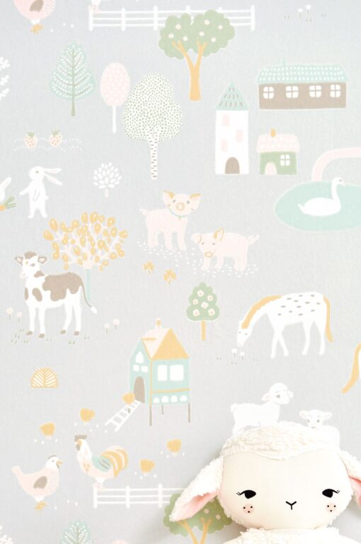 My Farm by Majvillan in Soft Grey