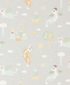 Magical Adventure Wallpaper in dusty grey