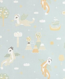Magical Adventure Wallpaper in Dusty blue