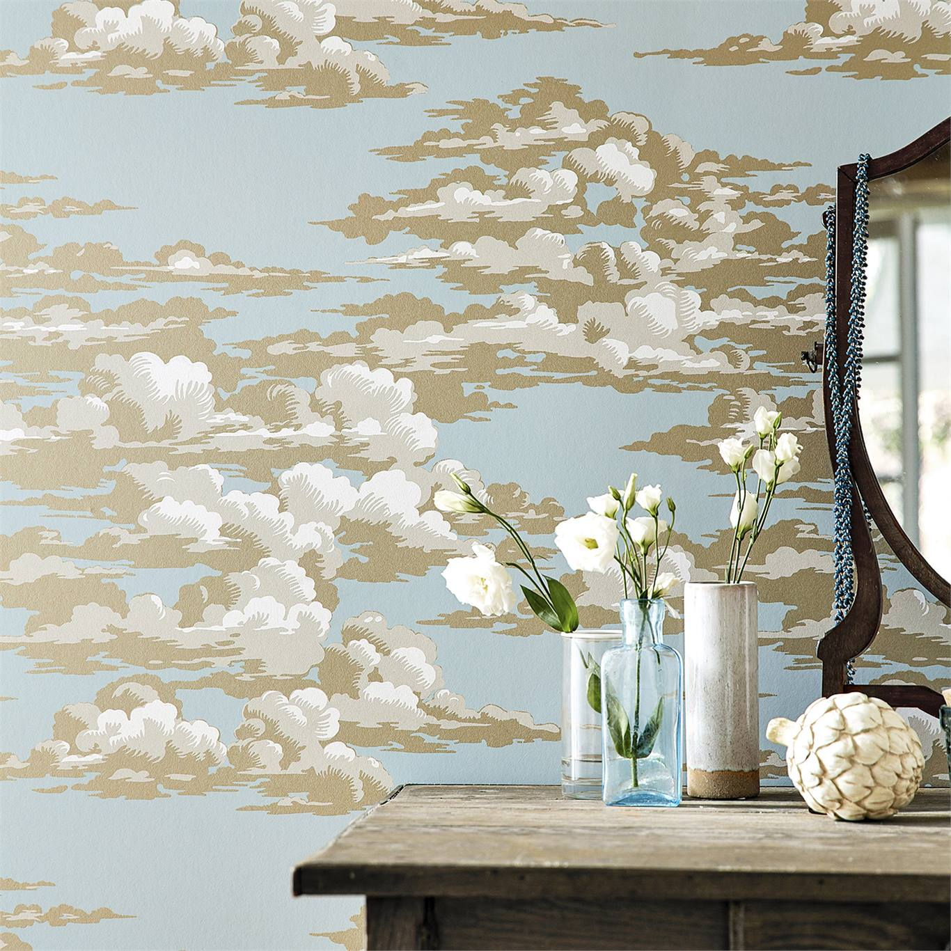 Silvi Clouds Wallpaper from the Elysian Collection