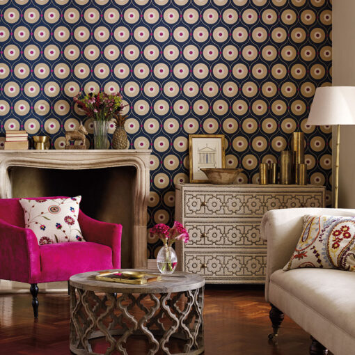 Starla Wallpaper from the Sojourn Collection by Harlequin Wallpaper