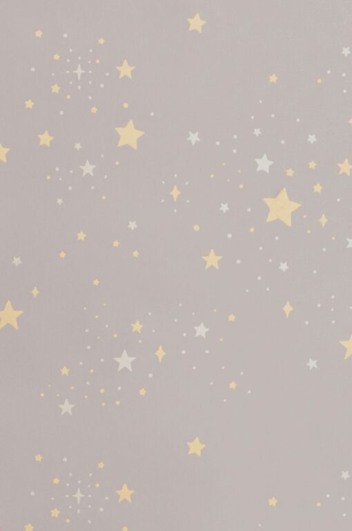 Twinkle wallpaper in mud grey