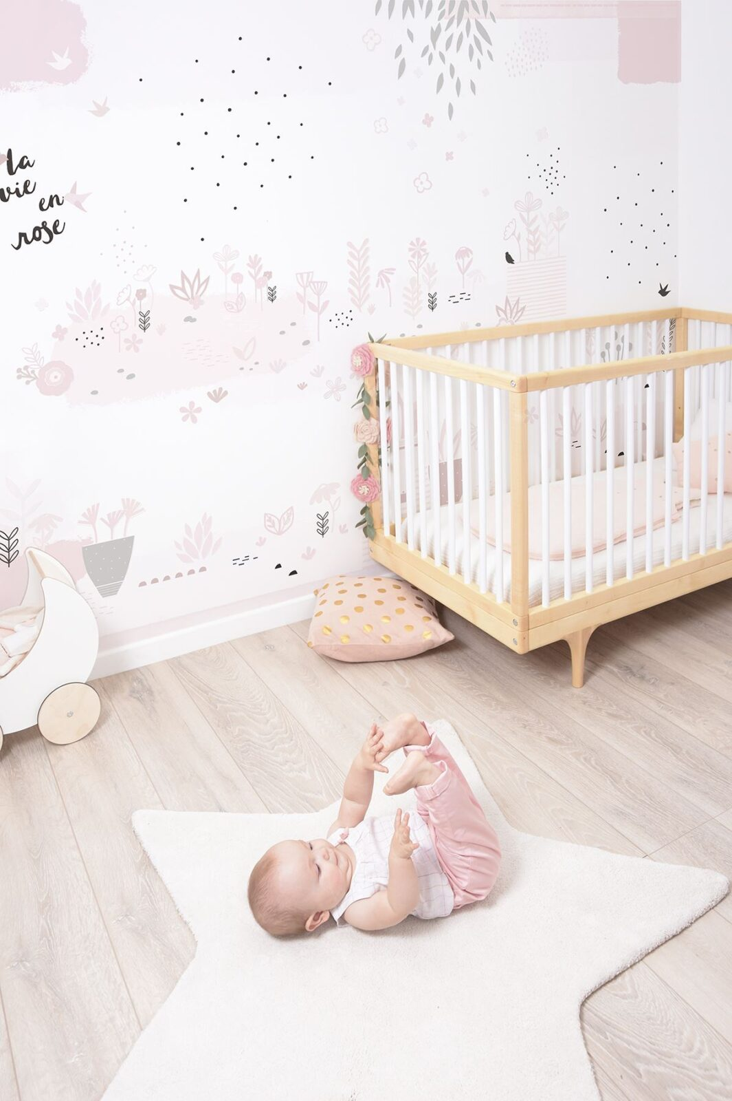 Nursery with a cot