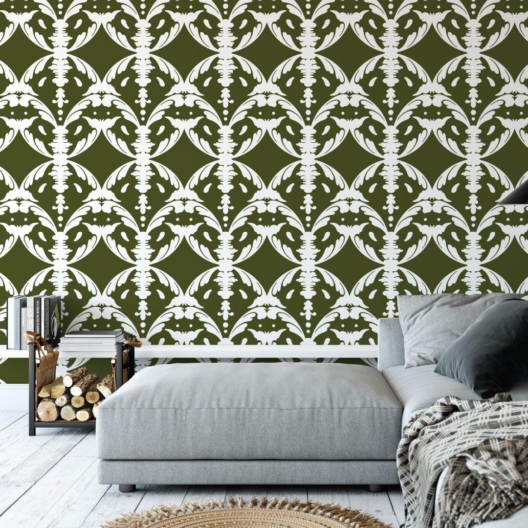 Genevieve Wallpaper - Silk Interiors ...