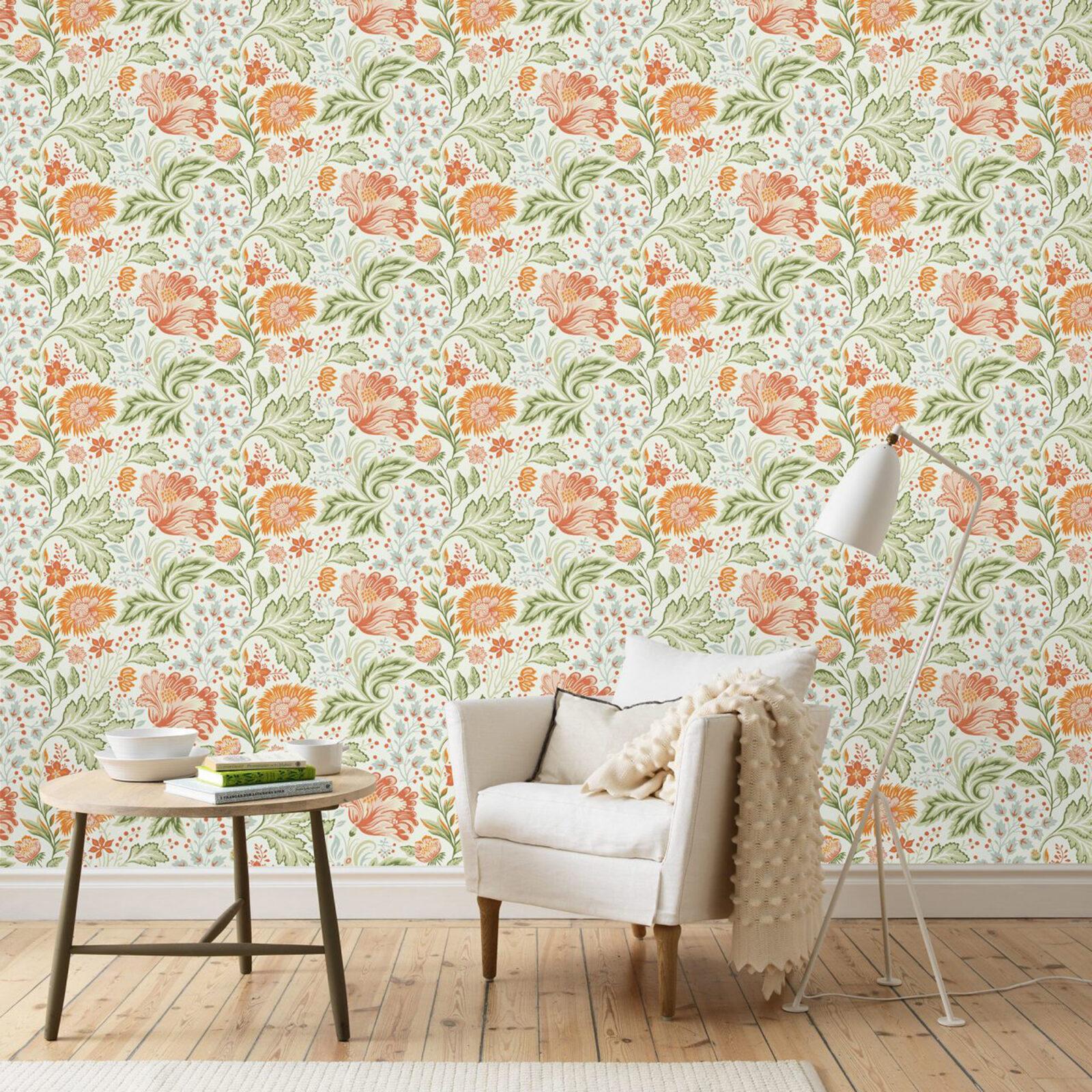 Ava Orange wallpaper by Sandberg