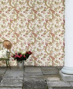 Chintz wallpaper from Woodville Papers by Zoffany