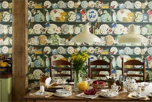 Dresser wallpaper from the Emma Bridgewater Collection