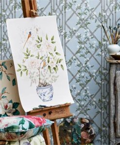 Jasmine Lattice Wallpaper from Woodville Papers by Zoffany
