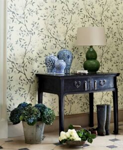 Romey's Garden Wallpaper from Woodville Papers by Zoffany