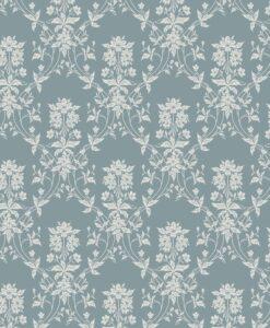 Alva Wallpaper - indigo blue