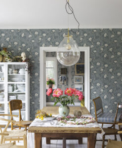 Charlotta wallpaper by Sandberg in Petrol
