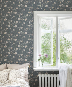 Emilie Wallpaper by Sandberg in Petrol